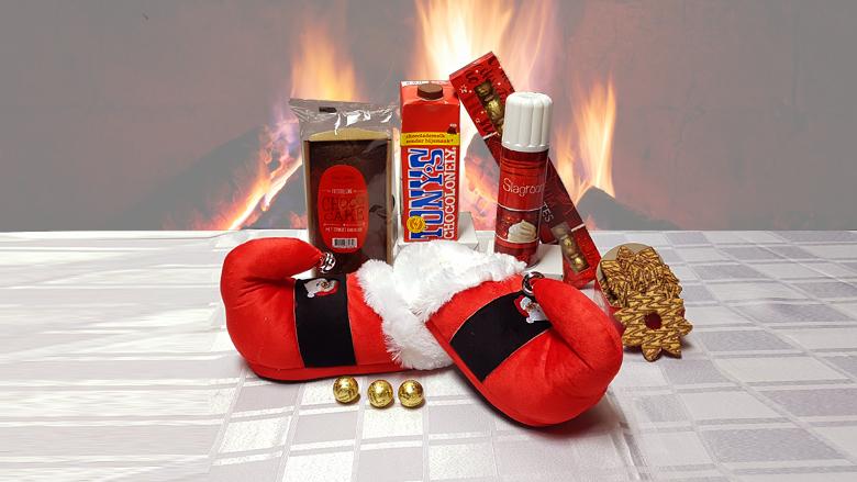 Kerstpakket: knusse sloffen
