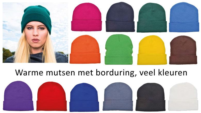 Knitted promo hat - gebreide muts met borduring