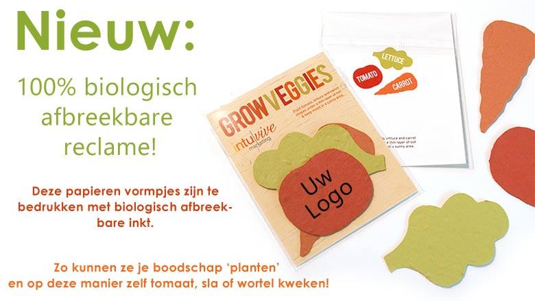 Biologische papieren groente - met zaadjes